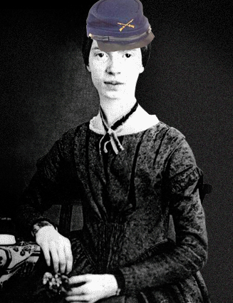 Emily Dickinson in a Kepi