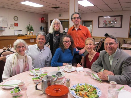 Oregon authors eating Chinese food