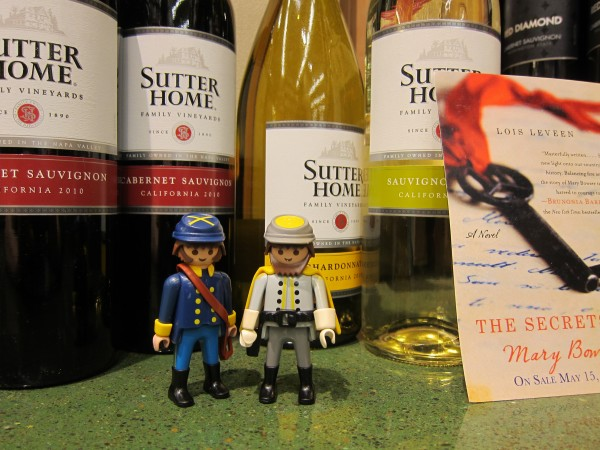 Civil War guys with wine bottles