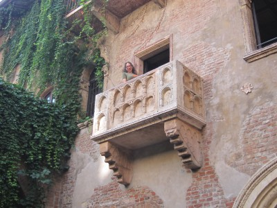 Lois on Juliet's Balcony