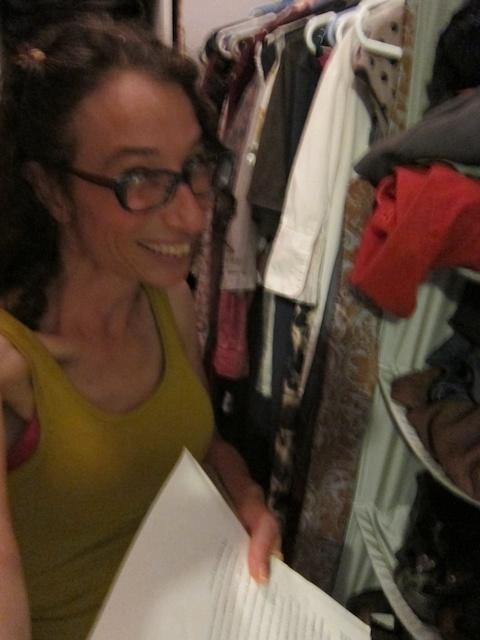 Me in Deena's Closet